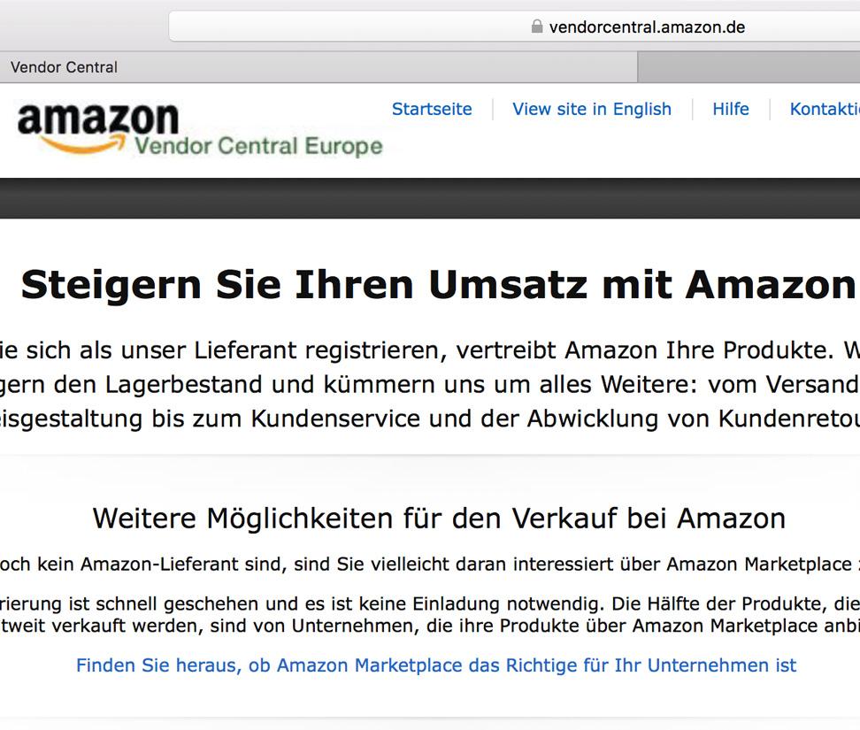 Softtzoll-EDI/Amazon-Vendor-Central