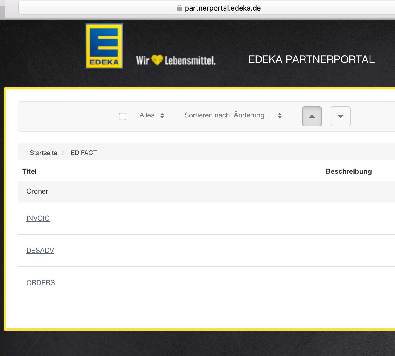 Softtzoll-EDI/Edeka-Partnerportal
