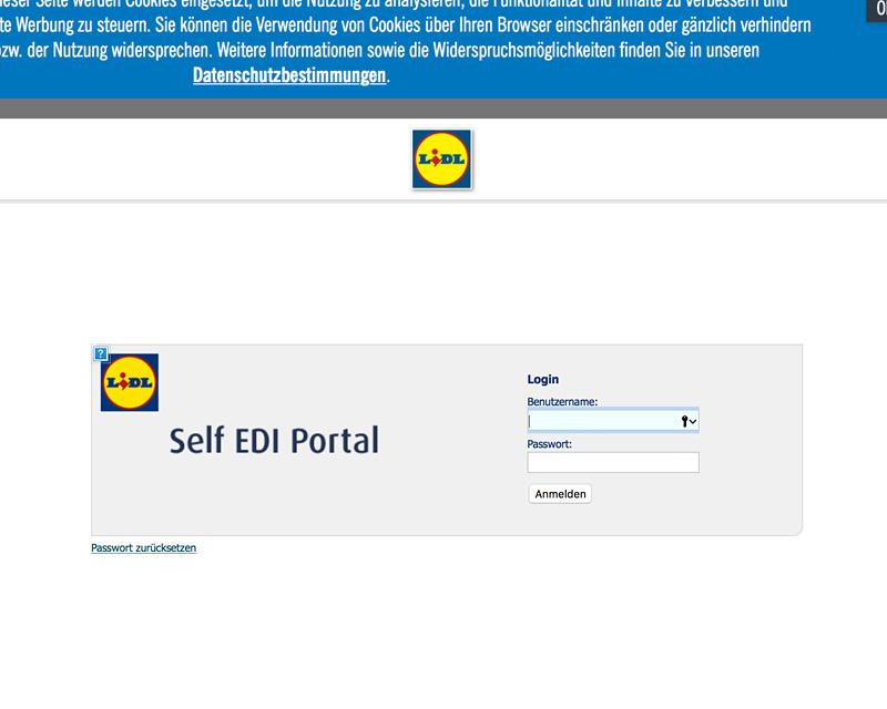 Softtzoll-EDI/Lidl-Self-EDI-Portal