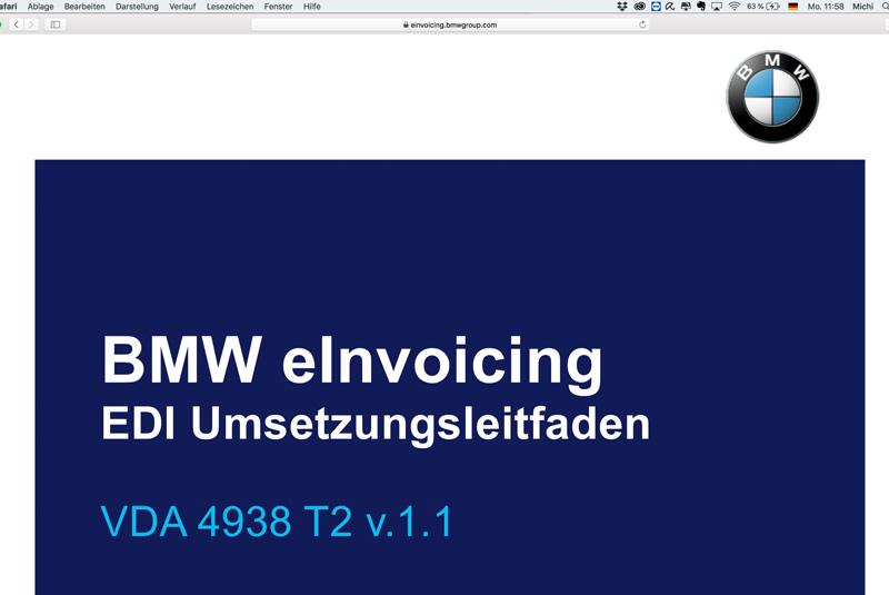 Softzoll-EDI-BMW/eInvoicing-Portal